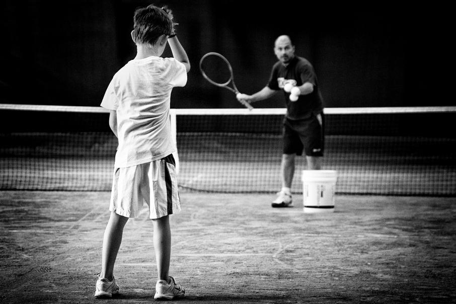 lezione di tennis