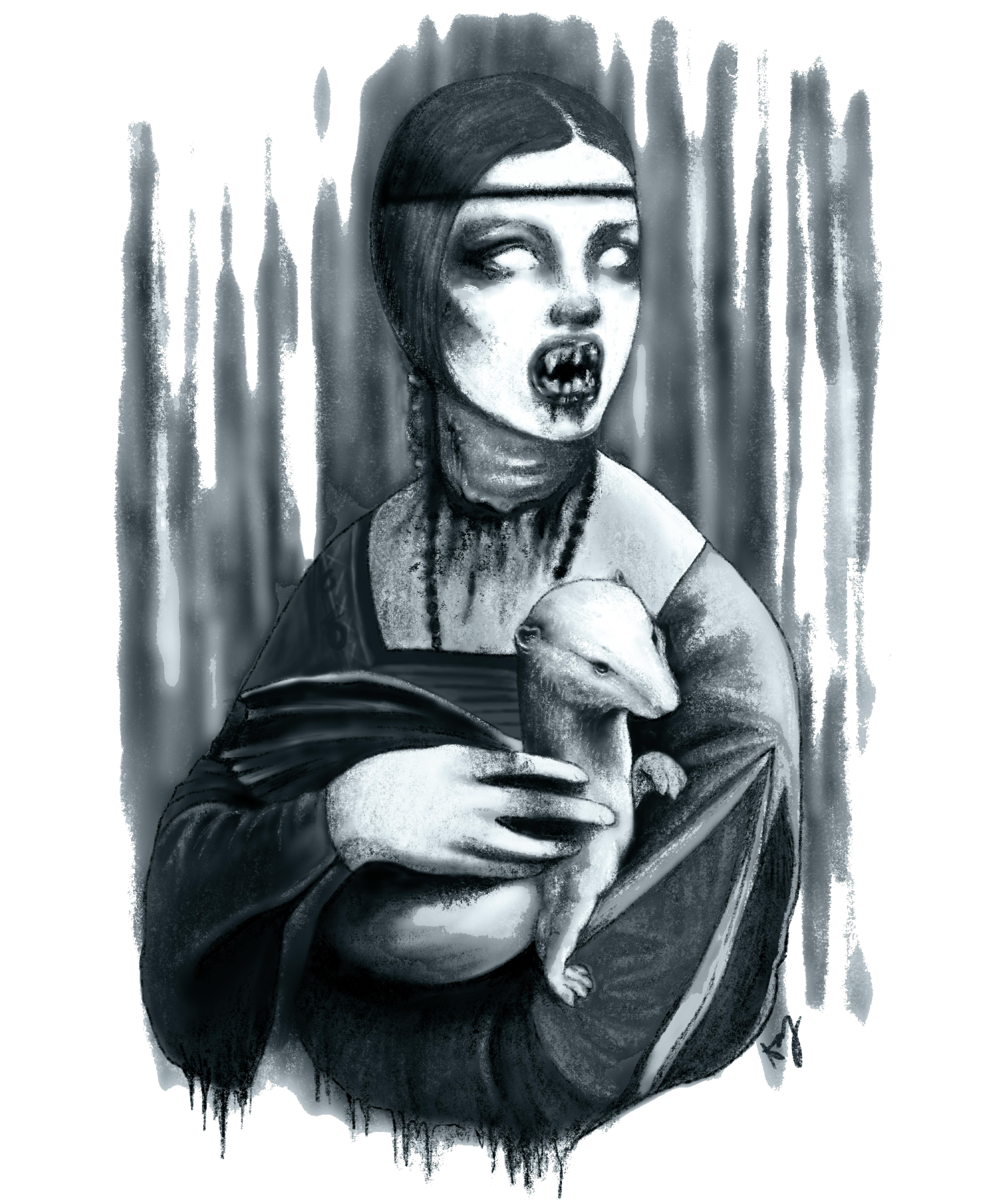 Dama Goth con l'ermellino